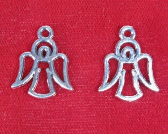 """BULK! 30pc """"angel"""" charms in antique silver style (BC1277B)"""