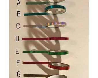 Washi tape sample: skinny metallic