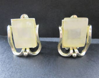 Vintage Silver Tone Clip On Earrings 1960's