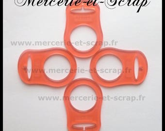 1 09 transparent orange silicone pacifier adapter