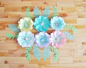 6 Mini Paper Flowers - Baby Nursery Decor | Baby Nursery | Paper Flowers | Small Paper Flowers | Paper Flower Wall | Flower Wall Art