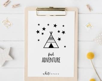 A4 Wall Art Print   Find adventure