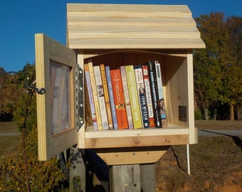 2pk--Library book exchange box,assembled, neighborhood library, 22 x 17 x 15, weather resistant, BEST VALUE & QUALITY, must be painted qty 2