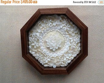 On Sale Sailors Valentine, Pearl Blossoms, Shell Art, Shadow Boxes, Sailor  Valentine