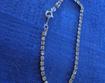 Vintage Avon Rhinestone Bracelet,Avon Tennis Bracelet,Silver Bracelet with Rhinestones,Avon 70's Bracelets,Avon 70's Jewelry