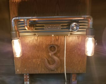 Valve cover wall mount lamp
