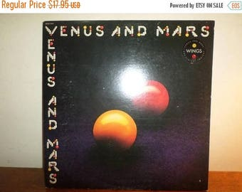 Save 30% Today Vintage LP Record Wings Paul McCartney Venus and Mars are Alright Tonight Excellent Condition w/2 Posters 12088