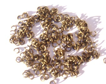 100 jump rings 4 mm color antique bronze nickel free