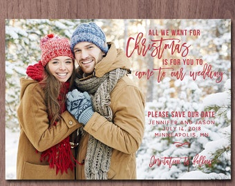 save the date christmas save the date wedding save the date