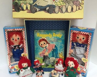 Raggedy Ann Andy Doll Collectable Keepsake Book Lot