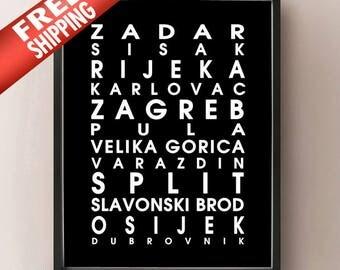 Croatia Bus Roll - European Poster
