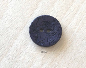 "Pretty Navy Blue ""flowers"" size: 22 mm"