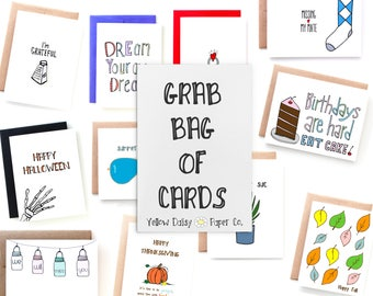 Grab Bag of 10 Cards - Mystery Bag of Cards on SALE!