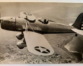Vintage Aviation Postcard . Ryan S T Plane ? c1940s ?