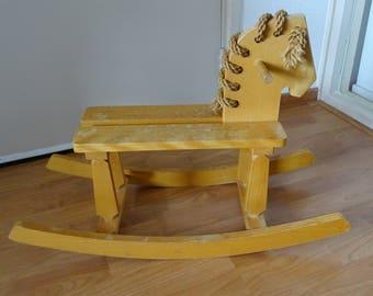 Vintage Wooden Rocking Horse, Vintage Wooden Toy