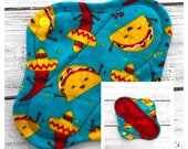 Tacos Flannel Mini Liner - Mama Cloth - Ready to ship