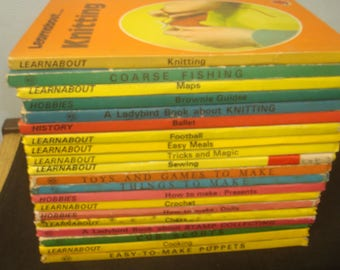 Set of 20 Crafts/Hobbies Themed Ladybird Books.  Mostly Good-VG condition