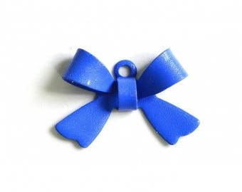 X 1 bow Royal Blue metal 16mm