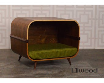 Mid century modern pet bed