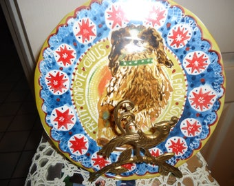 Cornelia Donavon Woodland Picnic Dessert Plate