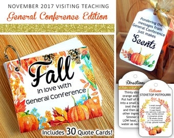 November 2017 Visiting Teaching Printables, LDS General Conference Edition, Relief Society Instant Download