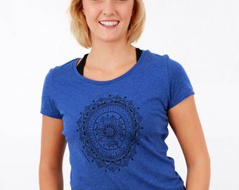 Women's MANDALA T-shirt, Organic Cotton, Yoga Clothes, Womens T-shirt, Graphic Tee