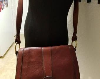 Rare Vintage FOSSIL CROSSBODY LEATHER Handbag