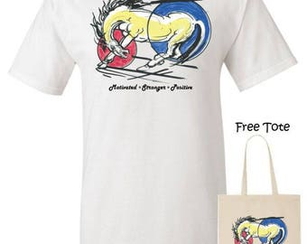 Motivated T-Shirt with Free Tote