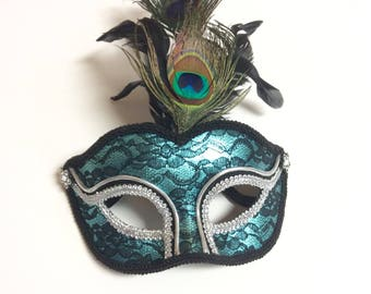 peacock mask, masquerade mask, peacock masquerade mask, peacock costume, halloween peacock, party mask