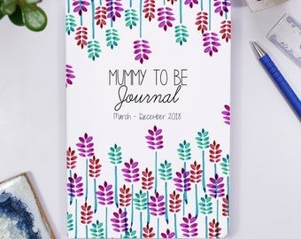 Mummy To Be Journal Notebook - Mum To Be Notebook - Pregnancy Announcement Gift - Baby Shower Present - Mum To Be Journal
