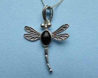 Whitby Jet and Silver Dragonfly
