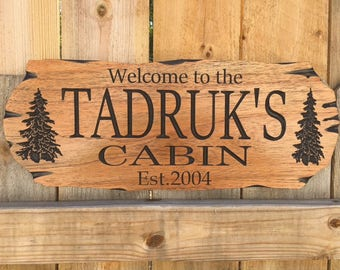 Outdoor wooden carved Sign, Wooden Carved Cabin Sign, FREE SHIPPING, Camp Sign, Weekend Camping, Lakehouse Sign, Cottage Sign, Father's Day