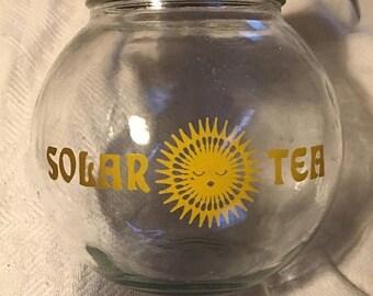 25% off customer app Vintage Glass Sun shine sun tea jar with metsl lid vintage solar tea