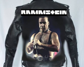 Rammstein rare Hand painted leather Jacket.