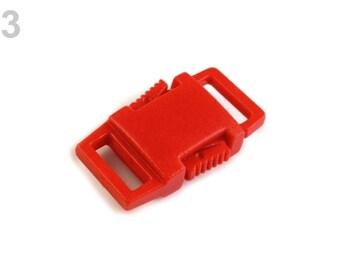2 plastic loop strap 9 mm Red