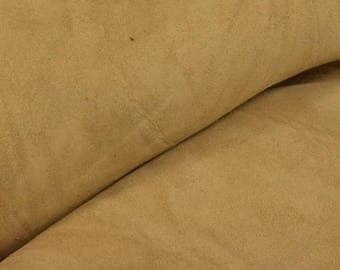 """Grunge Dark Sand Oil Tanned Cowhide 8"""" x 10"""" Pre-cut 5-6 ounces DE-64598 (Sec. 4,Shelf 7,A)"""
