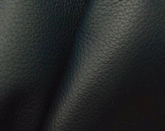 "Dark Ocean Teal Leather New Zealand Deer Hide 4"" x 6"" Pre-cut 2 1/2-3 ounces -14 DE-66119 (Sec. 3,Shelf 5,A,Box 4)"