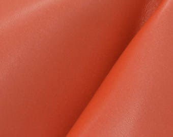 "Dark Paprika Spice Leather Cow Hide 8"" x 10"" Pre-cut 3-4 oz smooth DE-66257 (Sec. 4,Shelf 5,C)"