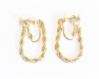 Vintage Napier Rope Chain Earrings