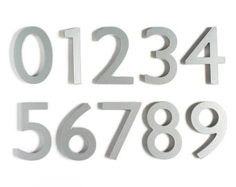 "ONE 4"" Silver Aluminum Magnetic Address Number (Free Shipping)"