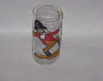 1977 Captain Crook drinking glass McDonald's