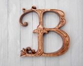Letter B Wood Wall Art Wo...