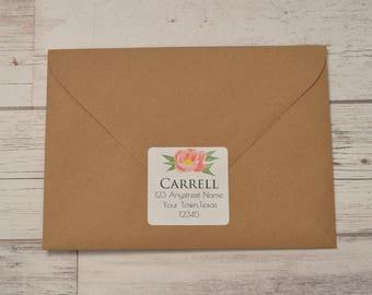 Personalized Return Address Labels- Floral Return Address Labels - Watercolor Floral Return Address Labels - Custom Return Address Labels
