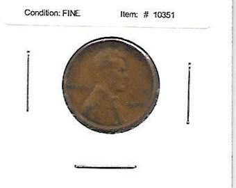 Coin 1927 Lincoln Wheat Cent Fine Condition
