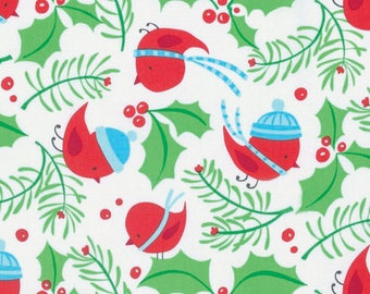 Merry Christmas Fabric - Jolly Holly - Merry- By David Walker From Free Spirit
