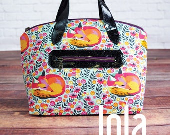 Lola Domed Handbag by Swoon - Paper Printed Pattern