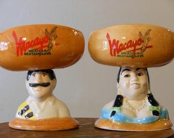 Macayo Mexican Restaurants Figurine Bowls
