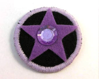 Steven Universe Crystal Gem Amethyst Badge Pin Button Patch