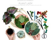 Advanced Contemporary Hand-Embroidery Pattern By Sarah K. Benning: Plant Lady Instant Digital Download PDF