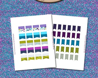 Happy Planner Digital, Printable, Sticker Flag Set: Thankful